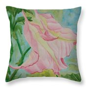 Upside Down Watercolor Throw Pillow