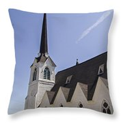 Upstate Church Throw Pillow