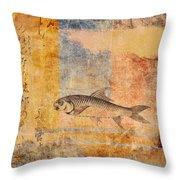 Upstream Throw Pillow by Carol Leigh