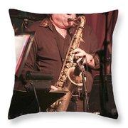 Uptown Horns - Arno Hecht Throw Pillow