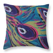 Uptown Peacock Throw Pillow