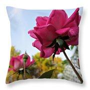 Upward Roses Throw Pillow