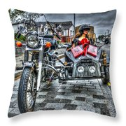Ural Wolf 750 And Sidecar Throw Pillow