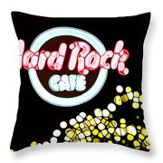 Urban Abstract Hard Rock Cafe Throw Pillow by Dan Sproul