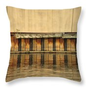 Urban Abstract River Reflections Throw Pillow