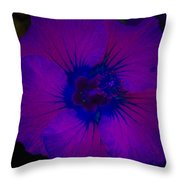 Urban Art Hibiscus II Throw Pillow