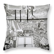 Urban Art In Fort Cochin Throw Pillow