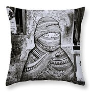 Urban Secrecy Throw Pillow