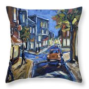 Urban Avenue By Prankearts Throw Pillow by Richard T Pranke