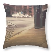 Urban Bicycle Throw Pillow
