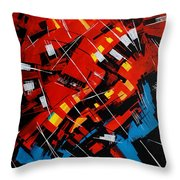 Urban Communication Throw Pillow