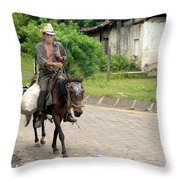 Urban Cowboy Throw Pillow