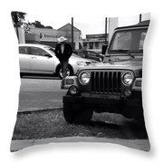 Urban Cowboy Throw Pillow