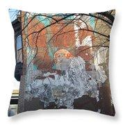 Urban Decay Mural Wall 4 Throw Pillow