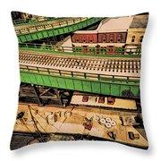 Urban Dock Throw Pillow