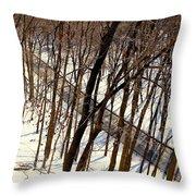 Urban Forest At Dusk Throw Pillow