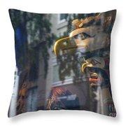 Urban Indian Symbolism Throw Pillow