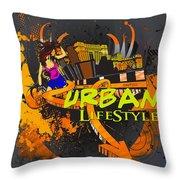 Urban Lifestyle Throw Pillow