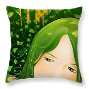Urban Rosebudd Throw Pillow by Sandra Hoefer