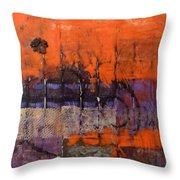 Urban Rust Throw Pillow