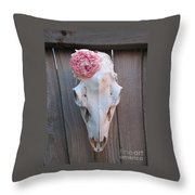 Urban Rustic Ode To O'keeffe Throw Pillow