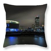 Urban Sapphire Throw Pillow