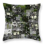 Urban Scene Going Green Throw Pillow