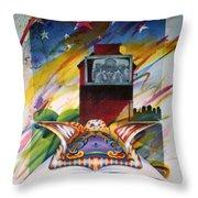 Urban Sky Throw Pillow