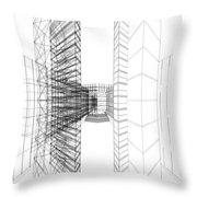 Urban Skyscrapers Throw Pillow by Nenad Cerovic
