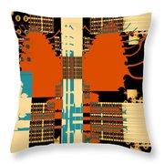 Urban Sprawl Throw Pillow
