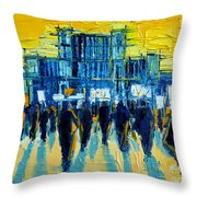 Urban Story - The Romanian Revolution Throw Pillow