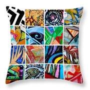 Urban Street Art Throw Pillow