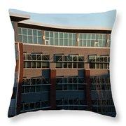 Urban Sunrise Glow Throw Pillow