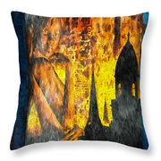 Urban Sunset Throw Pillow by Bob Orsillo