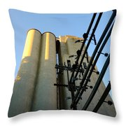 Urban Towers And Poles Throw Pillow