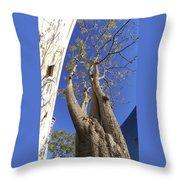 Urban Trees No 1 Throw Pillow