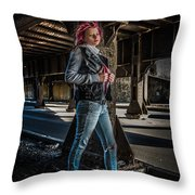 Urban Underworld Throw Pillow