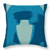 Urn On Canvas Throw Pillow