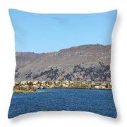 Uros Floating Island Village Throw Pillow