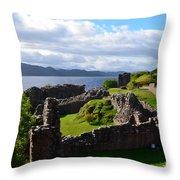 Urquhart Castle Ruins Throw Pillow