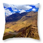 Urubamba River Throw Pillow