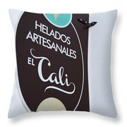 Uruguay Helados Throw Pillow