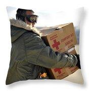 U.s. Air Force Airman Carries American Throw Pillow