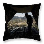 U.s. Air Force Airman Pushes Throw Pillow by Stocktrek Images
