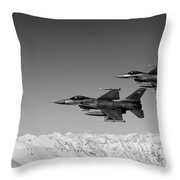 U.s. Air Force F-16 Fighting Falcons Over Afghanistan. Throw Pillow