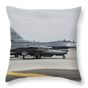 U.s. Air Force F-16c Planes Undergo Throw Pillow