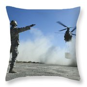 U.s. Air Force Master Sergeant Guides Throw Pillow