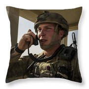 U.s. Air Force Soldier Communicates Throw Pillow