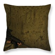 U.s. Air Force Staff Sergeant Provides Throw Pillow