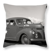 Us Army Dodge Staff Car Throw Pillow